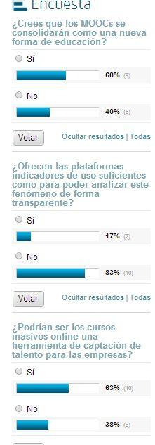 Encuesta sobre MOOCs http://goo.gl/bbdJwF #educacion #encuesta #mooc