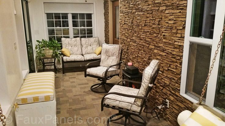 Accent Wall Ideas With Manufactured Stone | Design Photos