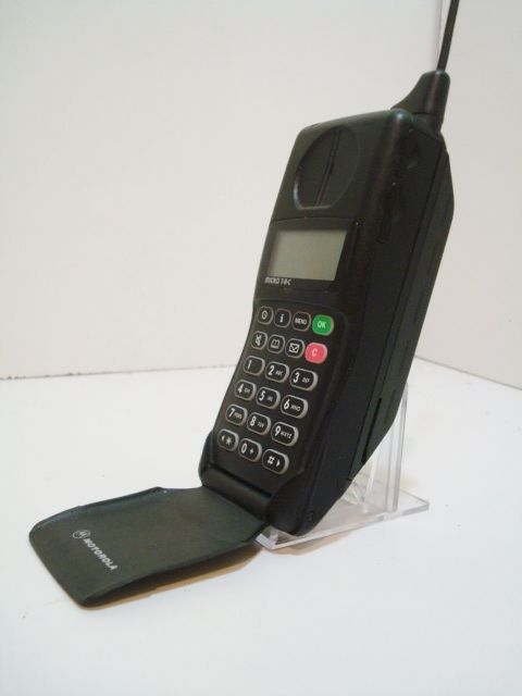 OMG! This was my first cell phone!  Motorola MicroTAC 9800X – The first flip phone.