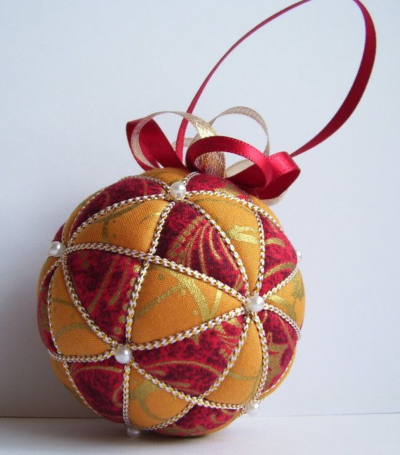 Christmas Ornament Kit Kazaguruma Kimekomi Red by Ornament Designs