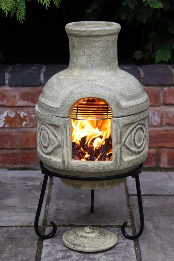 Chiminea fire pit and Chiminea