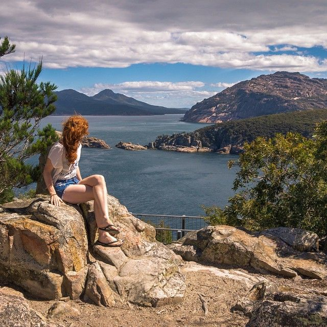 Looking out from Cape Tourville in the Freycinet national park via http://buff.ly/1Hizowx?utm_content=buffer3be4e&utm_medium=social&utm_source=pinterest.com&utm_campaign=buffer #tasmania #eastcoast