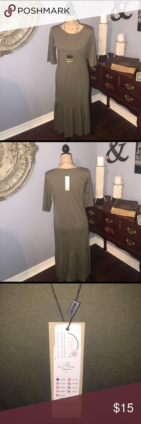 Noisy May New casual dress! New olive green casual dress! Soft material! Noisy May Dresses Midi