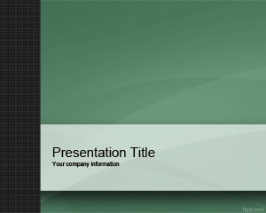 green small company powerpoint template is a simple template for small
