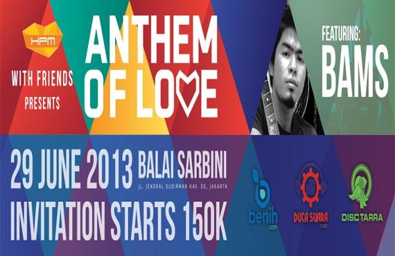 Jual Tiket Konser HARVEST Anthem Of Love 2013 - www.tarratix.com