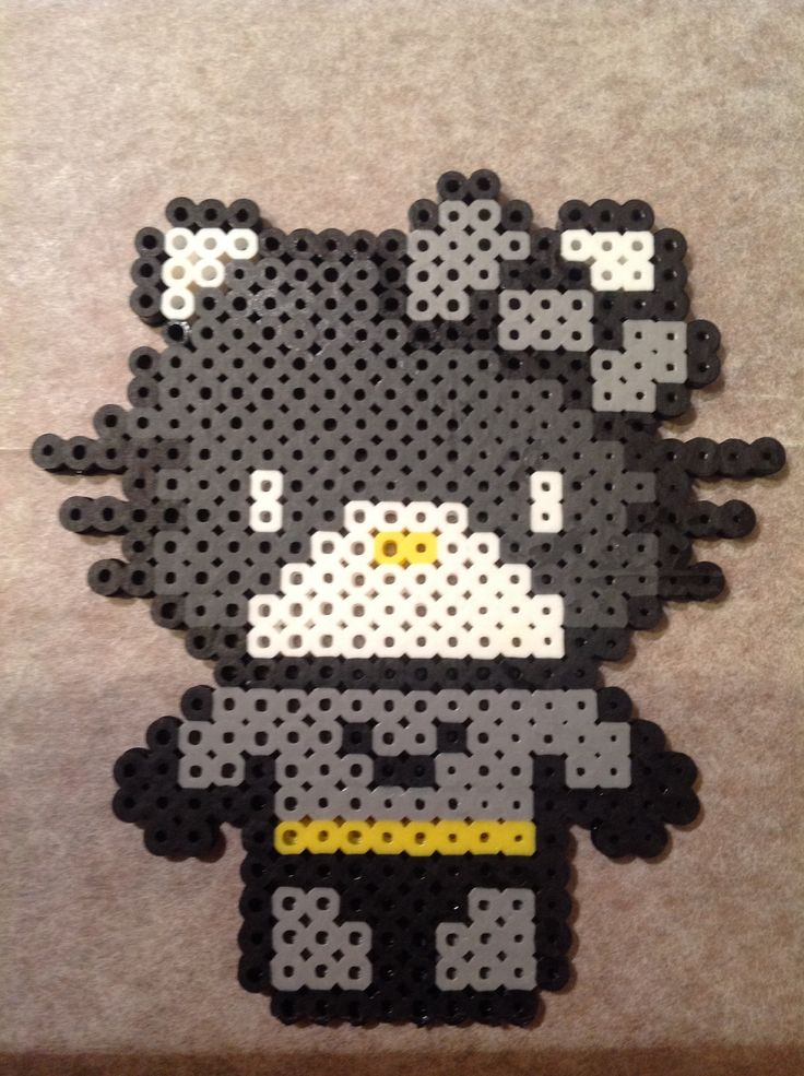 Batman Hello Kitty  perler beads by Jennifer Harrison