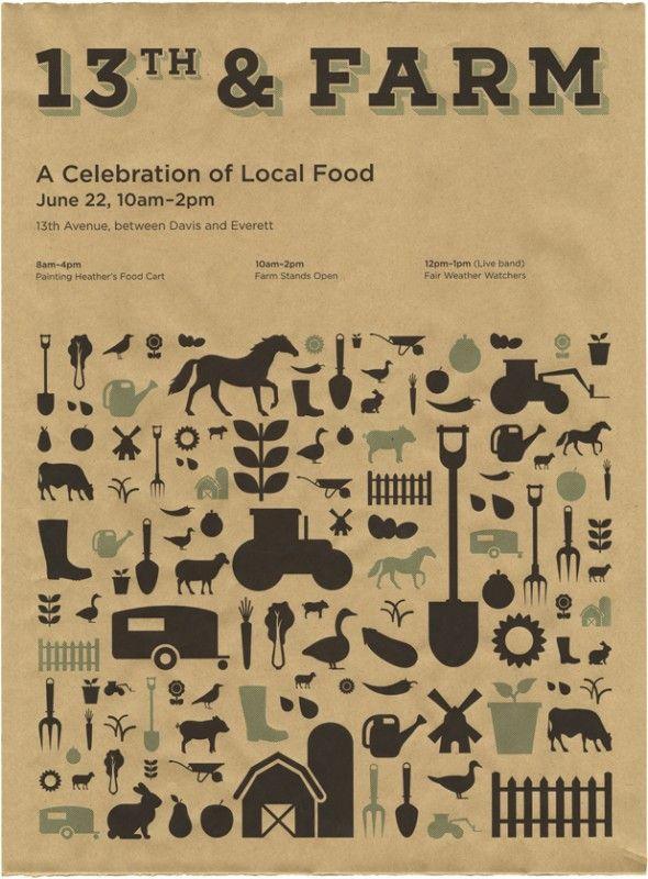 Farmers market poster from Weiden + Kennedy (via design*sponge)