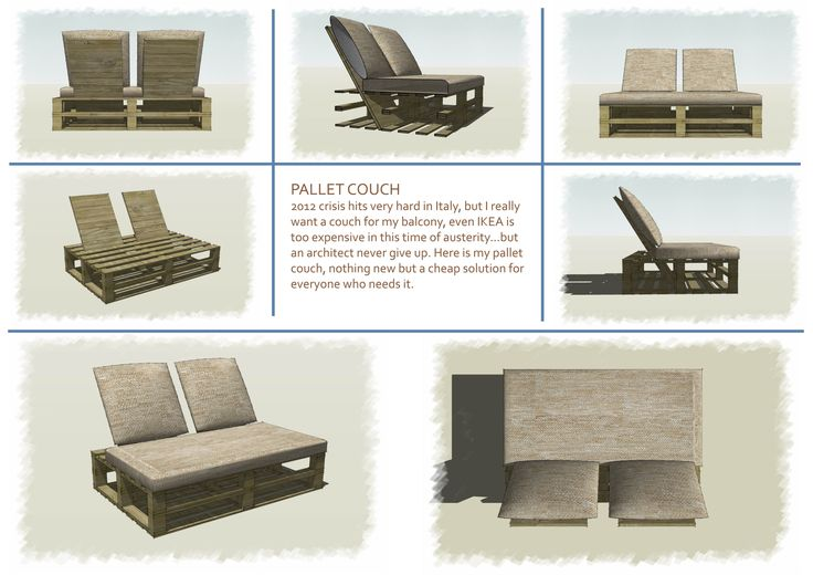 Pallet Furniture Interior Design ~ Pallet couch furniture by piero ceratti home interior