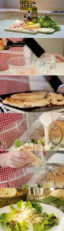 #receta Ensalada #Cesar con #aove