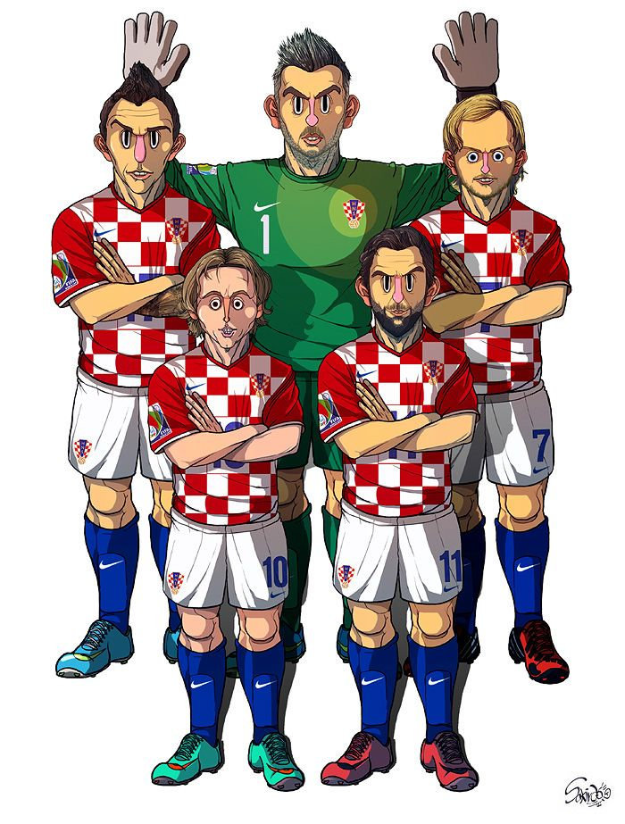 [2014 World cup Edition] A team : Croatia by sakiroo.deviantart.com on @deviantART