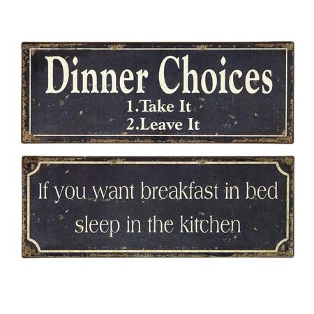 2 Piece Breakfast & Dinner Wall Décor Set