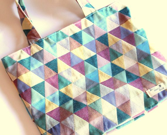 Shoulder Tote Bag / Rhombus Tote Bag / Urban by maryscreativeworld