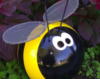 Bumble Bee Bowling Ball Garden Ornament