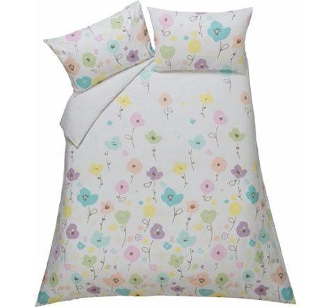 stylish u0026 artistic confetti floral bedding set duvet cover with 2 pillow case reversible double
