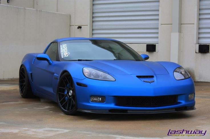Matte Blue 2007 Corvette Z06 by Lashway Motorsports in Pompano Beach. Thoughts?