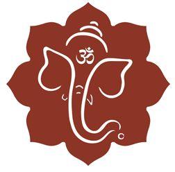 Ganesha Outline Images Yoganesh logo solid outline