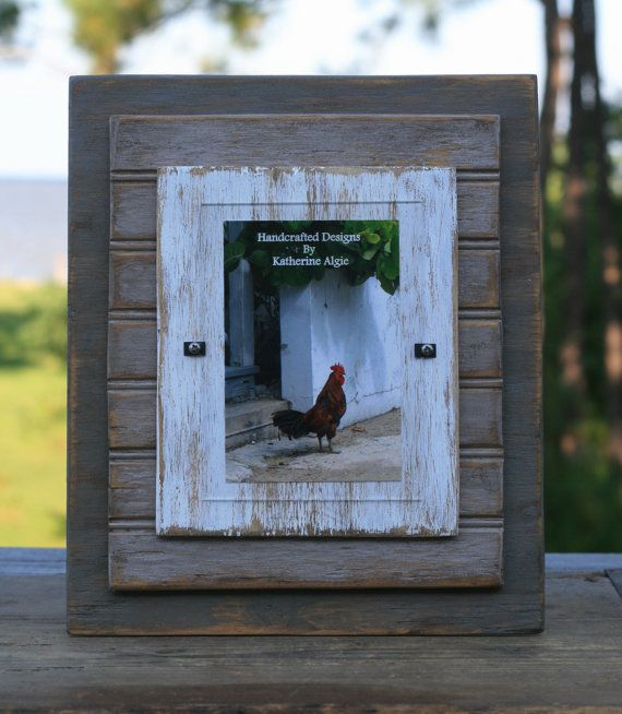 5 x 7 distressed handmade picture frame white by shoponelove 3500