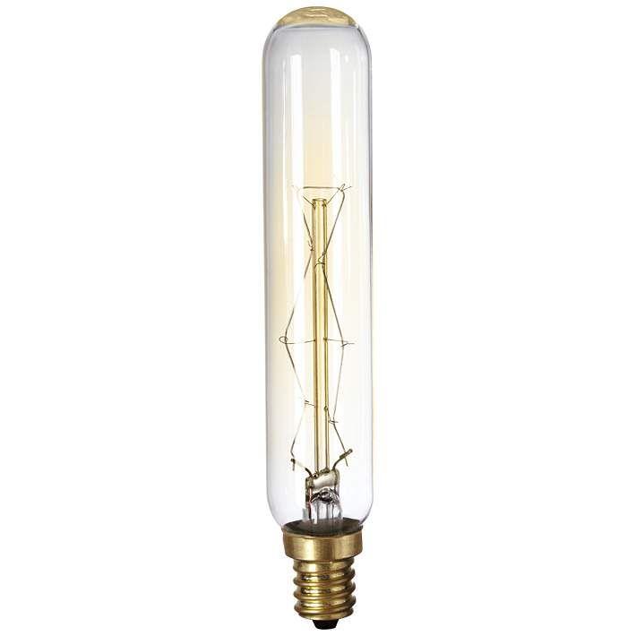 60 Watt Edison Style Tube Candelabra Base Light Bulb - #2J201 | Lamps Plus