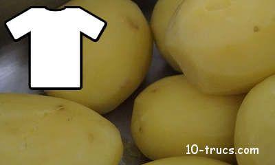 Recette maison pour blanchir avec des pommes de terre cuites... :)
