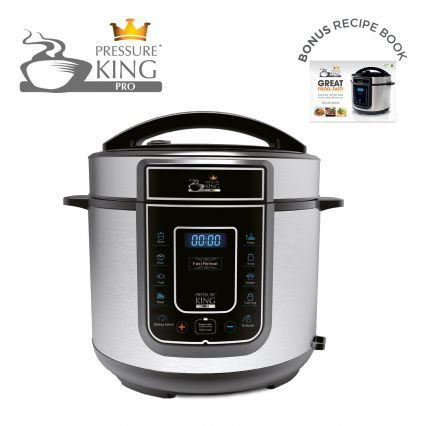 Make great food faster, healthier and easier with the 12-in-1 Pressure King Pro!