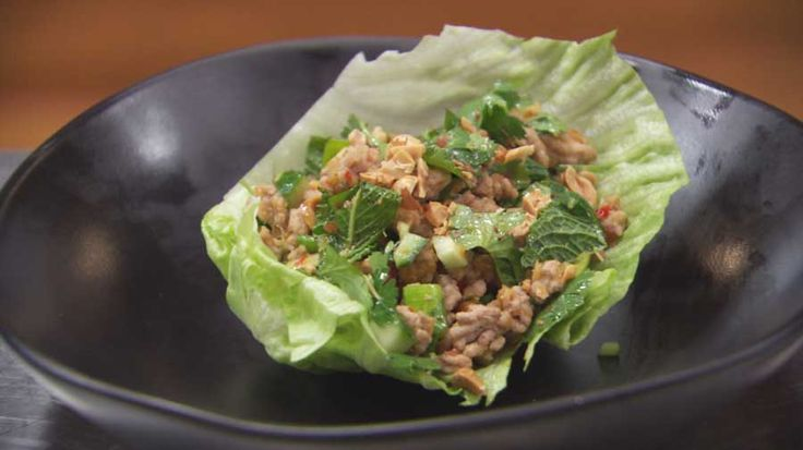 Spicy Thai Pork salad with fresh herbs