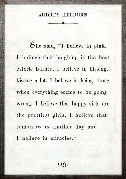 Audrey Hepburn Quote Vintage Framed Art Print