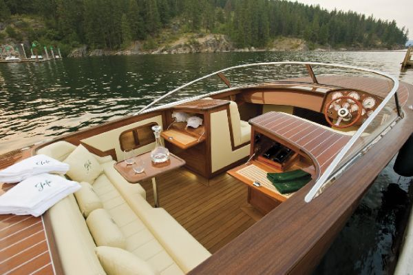 Hagadone custom made wooden power boats