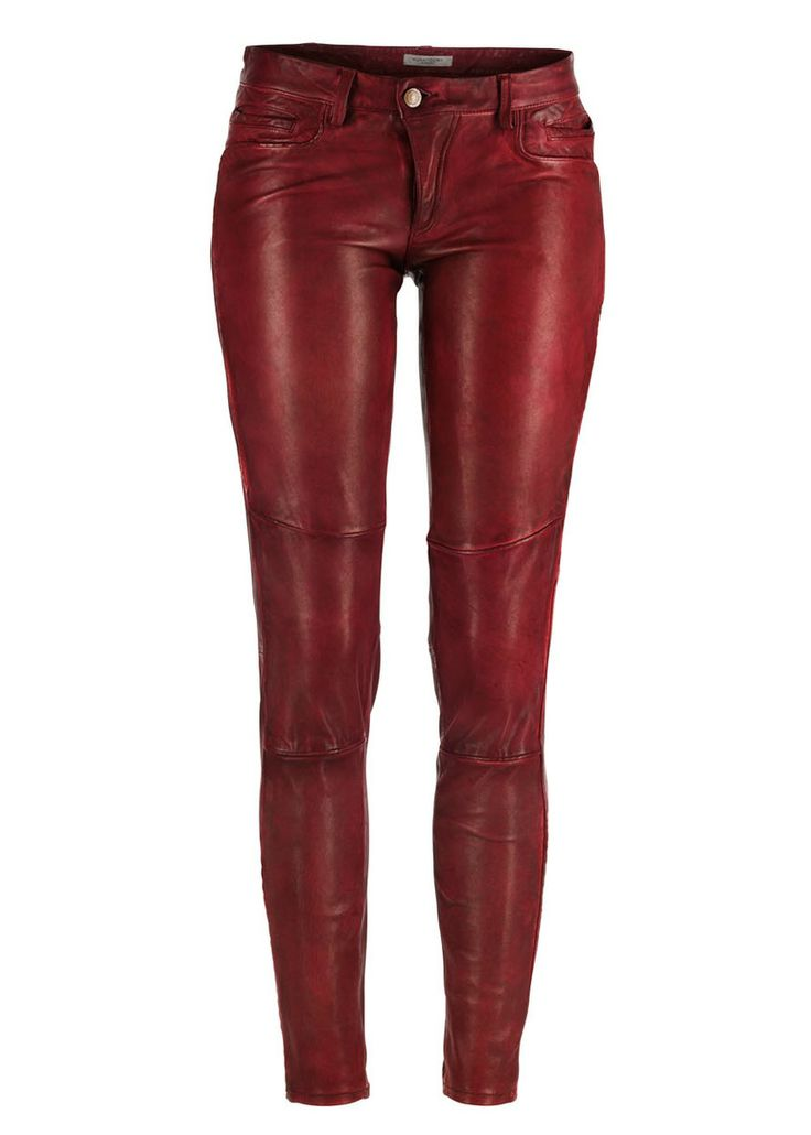 Hunkydory red Skinner Leather pants