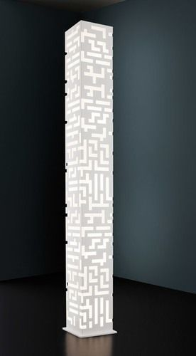 """""""Manhattan Tower"""" design floor lamp, ornaments with laser cuts, 5 light shields and light bulb included. cm. 25x22x188H Colours: White - black Only on www.mirabiliashop.com  The gallery of the italian excellent in craftsmanship..."""