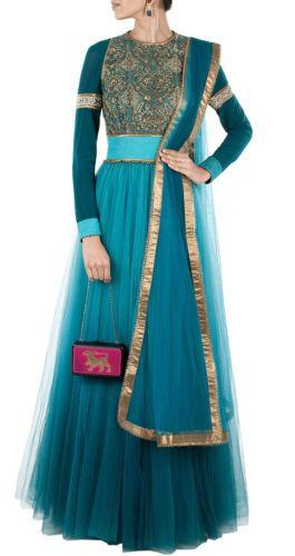 Gherdar Anarkali Suits bollywood Replica wedding gown salwar kameez Dress Sari   eBay