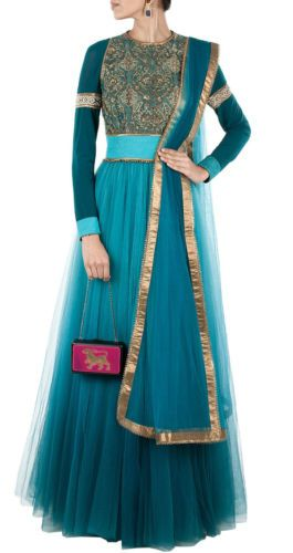 Gherdar Anarkali Suits bollywood Replica wedding gown salwar kameez Dress Sari | eBay