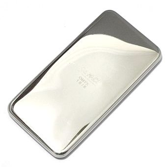 Onyx Stainless Steel Reusable Ice Pack - sleek, 100% toxic and plastic free, the size of a smartphone