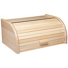 Buy Kitchen Craft Roll Top Bread Bin, Wood Online at johnlewis.com