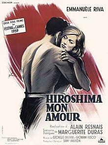 'Hiroshima mon amour'  Directed by Alain Resnais.    Written byMarguerite Duras.    Starring: Emmanuelle Riva & Eiji Okada