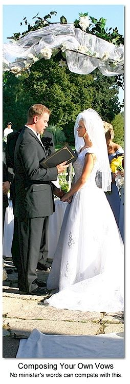 Examples of wedding vows      http://dayofdreams.com/Examples_of_wedding_vows.htm