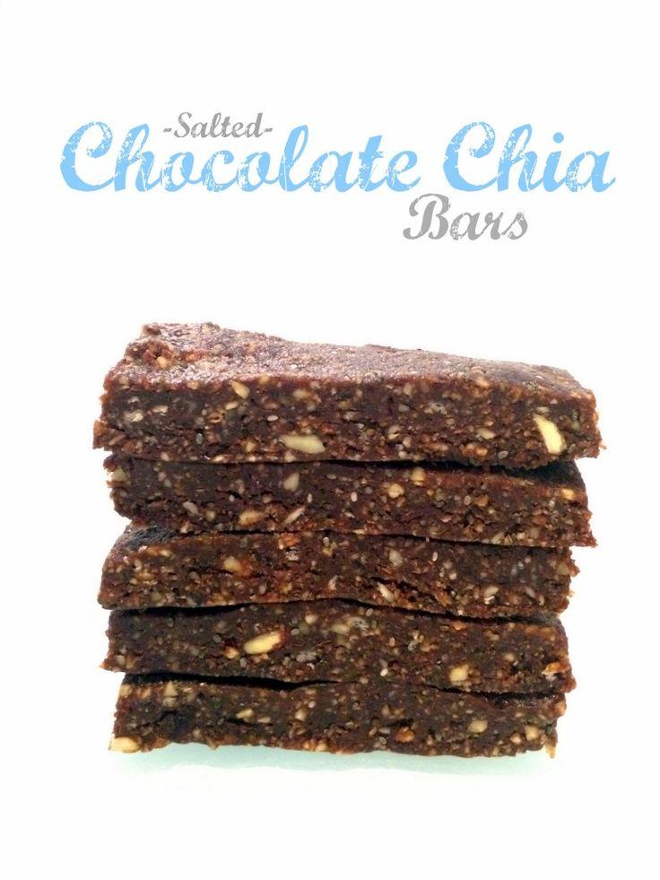 No-Bake Salted Chocolate Chia Bars | Hummusapien