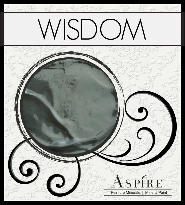"Aspire Mineral Chalk Paint in ""Wisdom"". Turn old furniture from ""drab to fab"" with this deep smokey grey!"