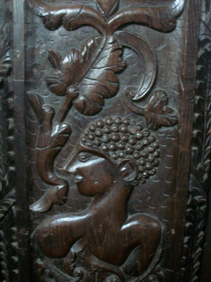 Bench end, St Swithuns, Sandford