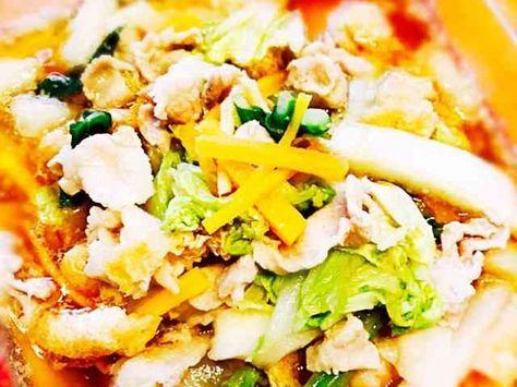 低糖質作りおき★豚バラと白菜のレンジ蒸しの画像