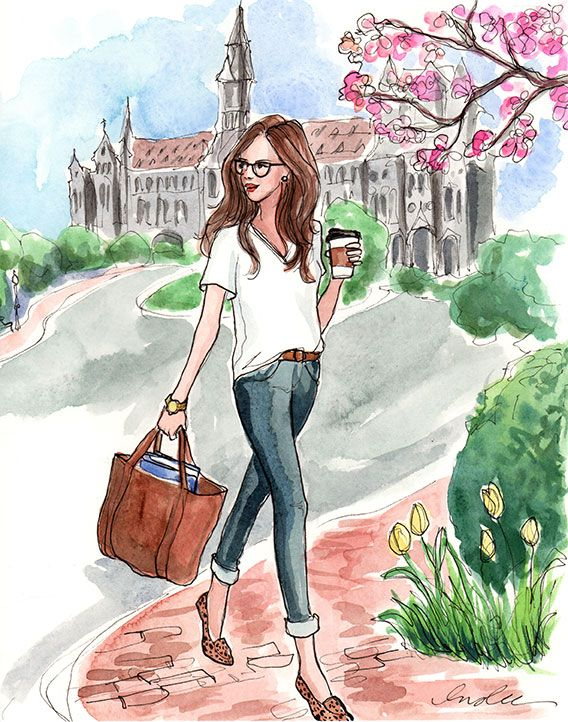 back to school | watercolor artwork piece by Inslee