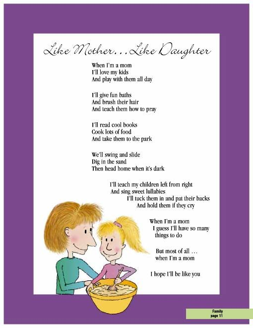 poem on relationship of a mother and daughter