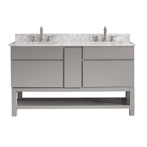 Modero Chilled Gray 60 Inch Double Vanity Only Avanity Vanities Bathroom Vanities Bathroom
