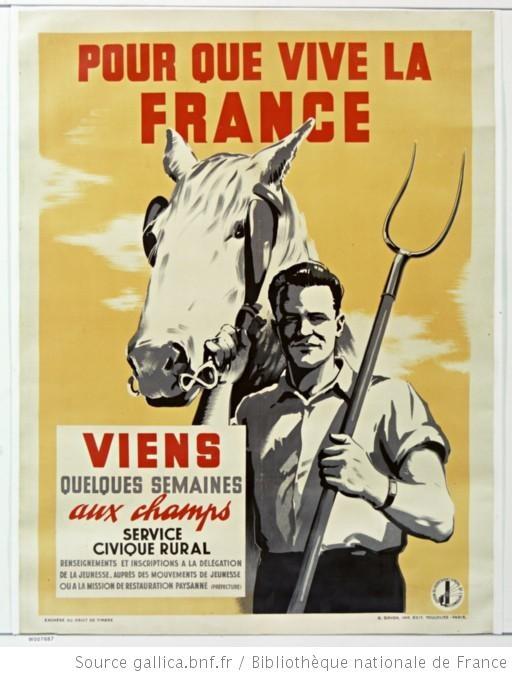 Pour que vive la France... Service civique rural... : [affiche] / [non identifié] - 1