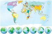 Mapa del mundo — Vector de stock #3222056