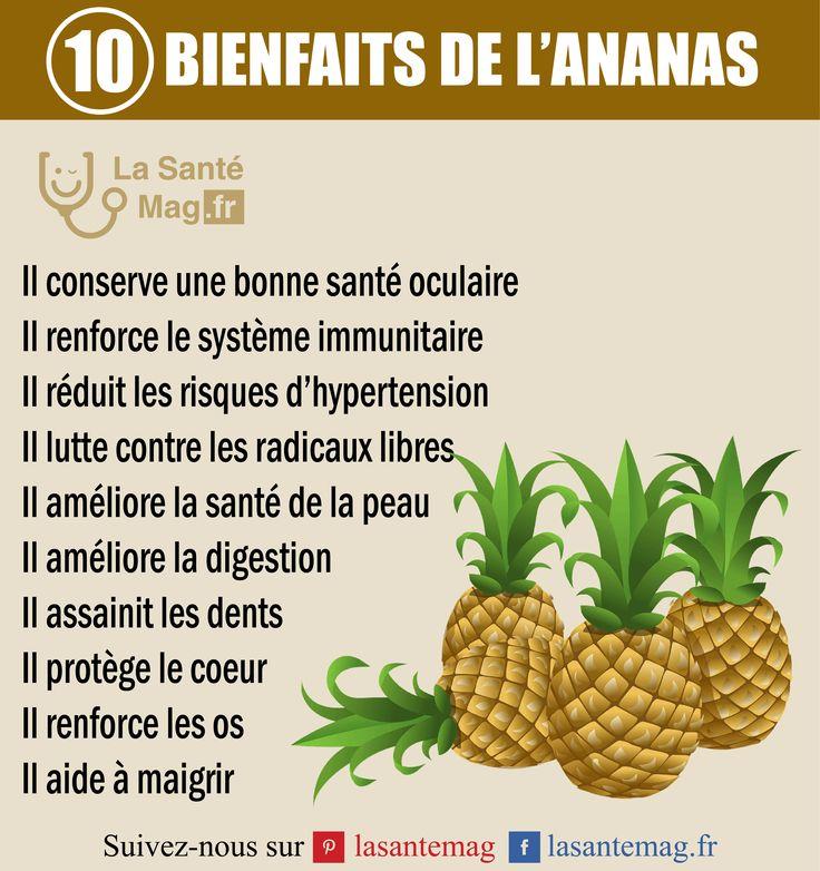 Les 10 bienfaits de l'ananas