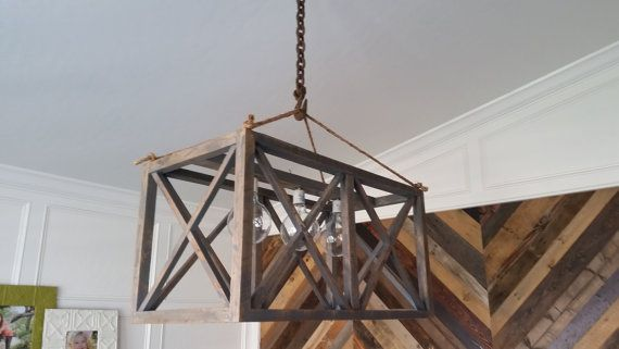 Rustic Industrial XX Chandelier Now on Sale by woodyrustics