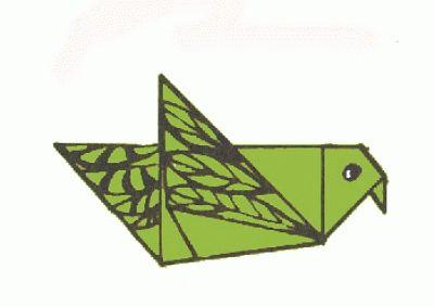 Schemi di origami - Uccelli (piccione in volo)