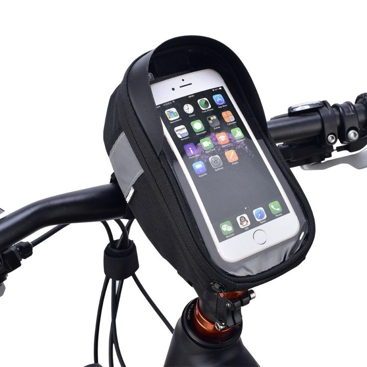 Cycling Bicycle Bike Head Tube Handlebar Mobile Phone Bag Case For 6.5in Phone