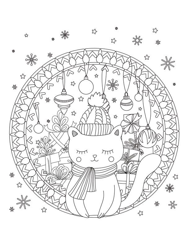 Free Christmas Coloring Pages For Relaxation Christmas Coloring Pages Holiday Coloring Book Christmas Coloring Books