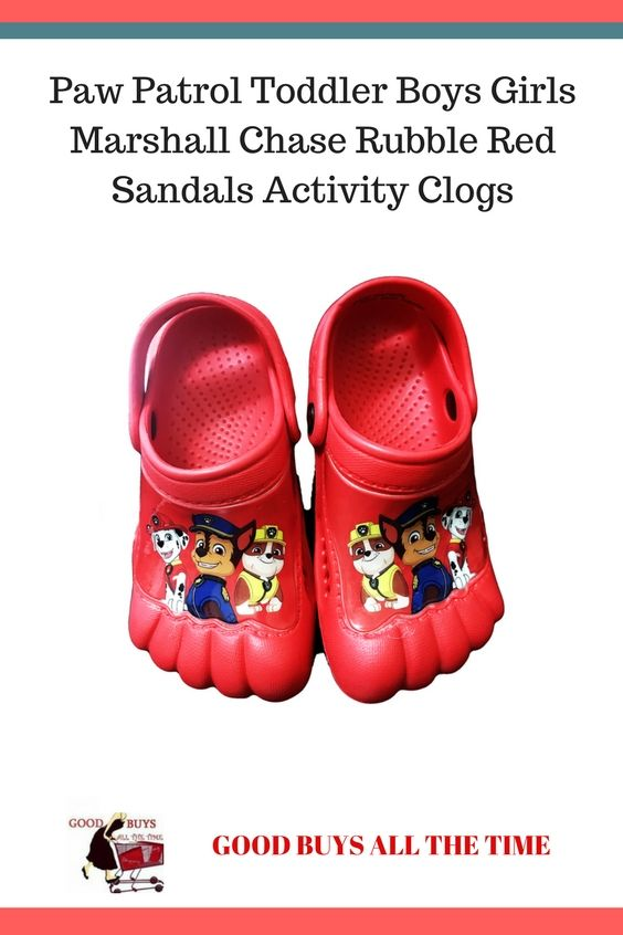 8b2d31e61cac Paw Patrol Toddler Boys Girls Marshall Chase Rubble Red Sandals Activity  Clogs Available in Size Medium (7 8) and Large (9 10)
